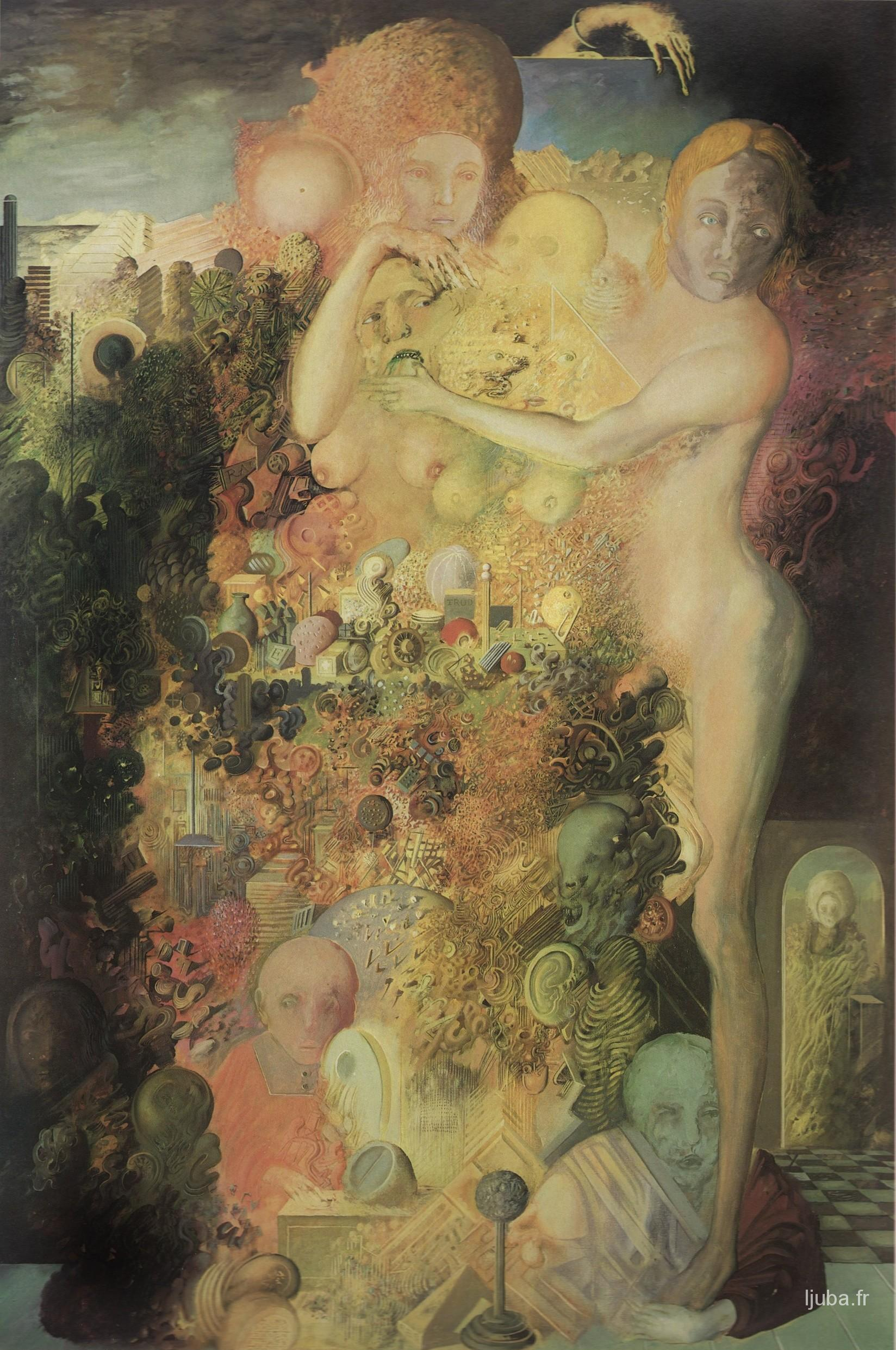 Ljuba Popovic - Le musée de chuchotement, 1975