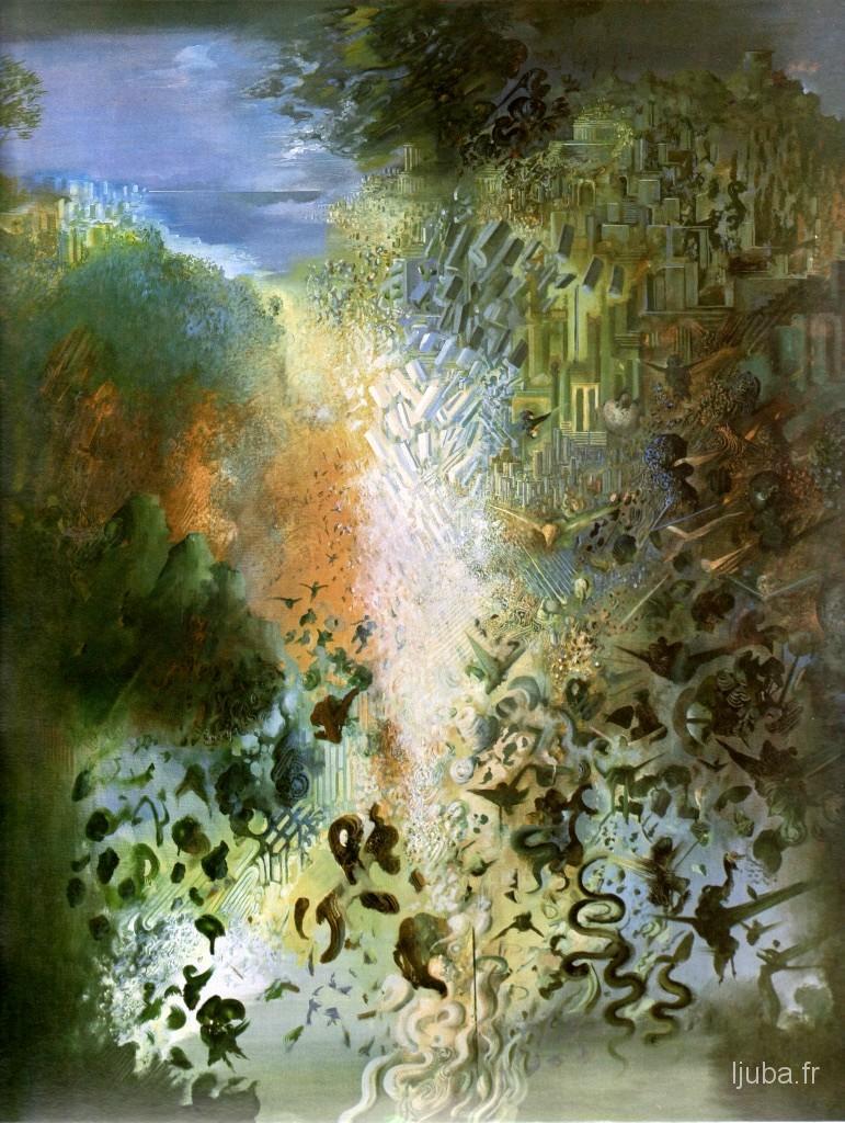 Ljuba Popovic - Le reflet d'un paysage angélique, 1984
