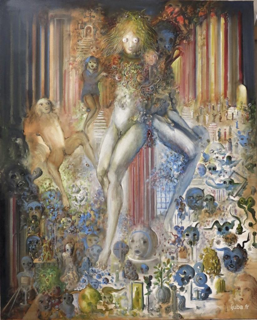 Ljuba Popovic - 2014, Femme-hibou, l'invasion des objets bleus