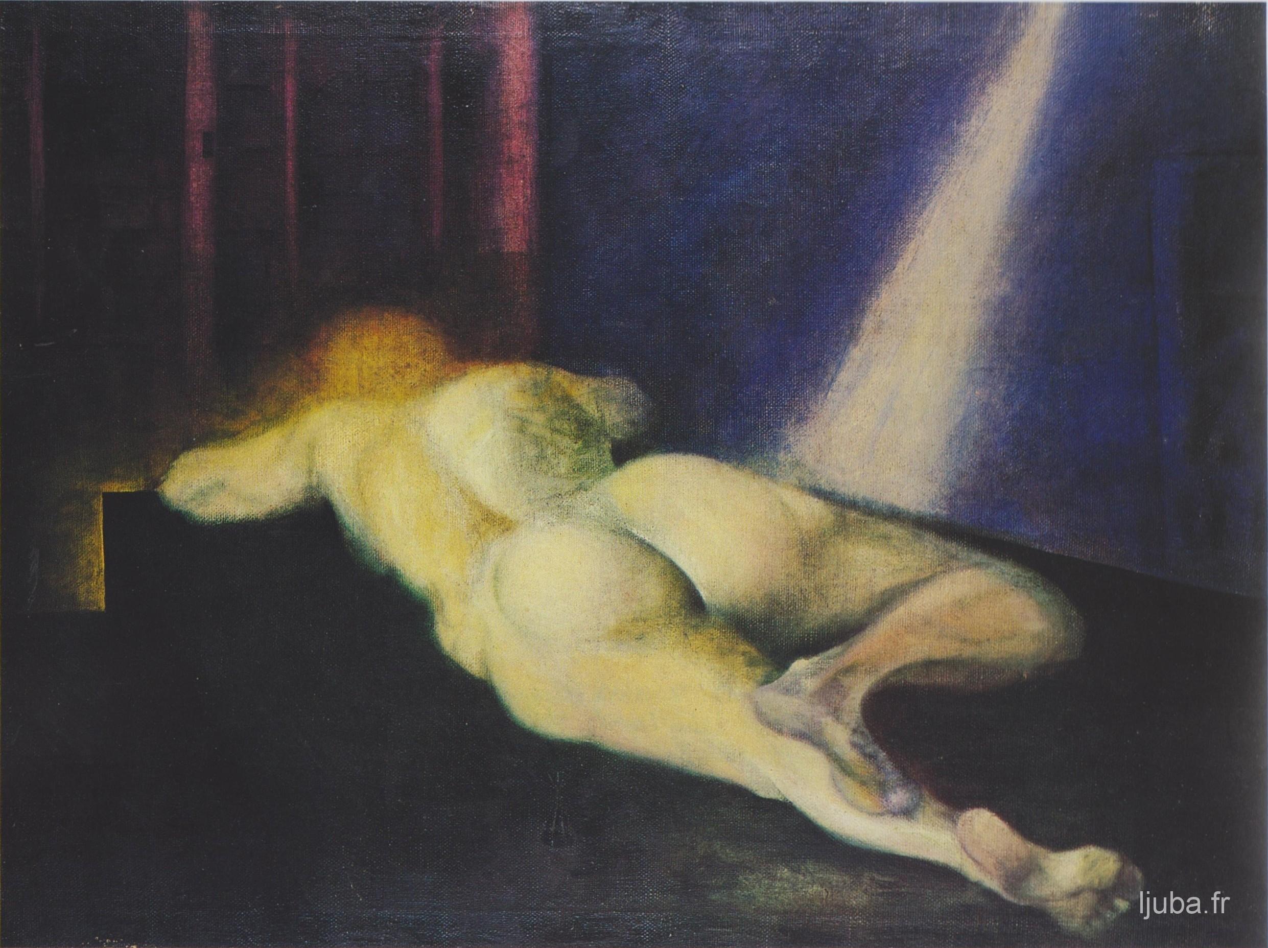 Ljuba Popovic - 1957. Le nu (bleu)