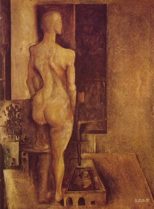 Ljuba Popovic - 1958, Studija leđa