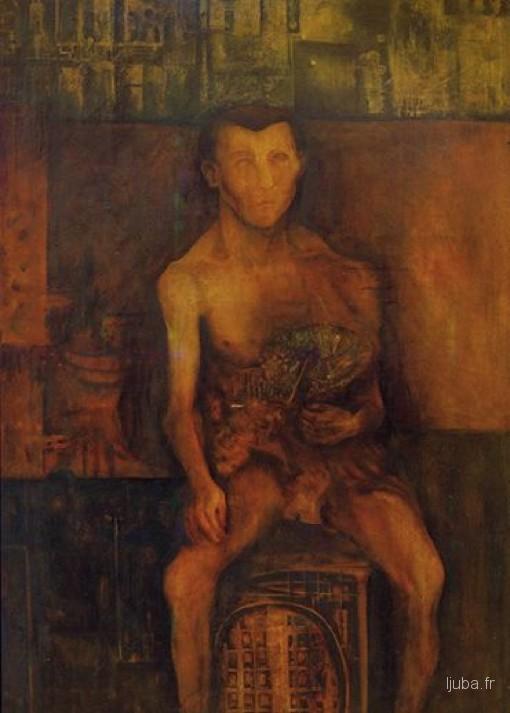 Ljuba Popovic - 1958, Akt sa cvećem (Ljuba ciganin)