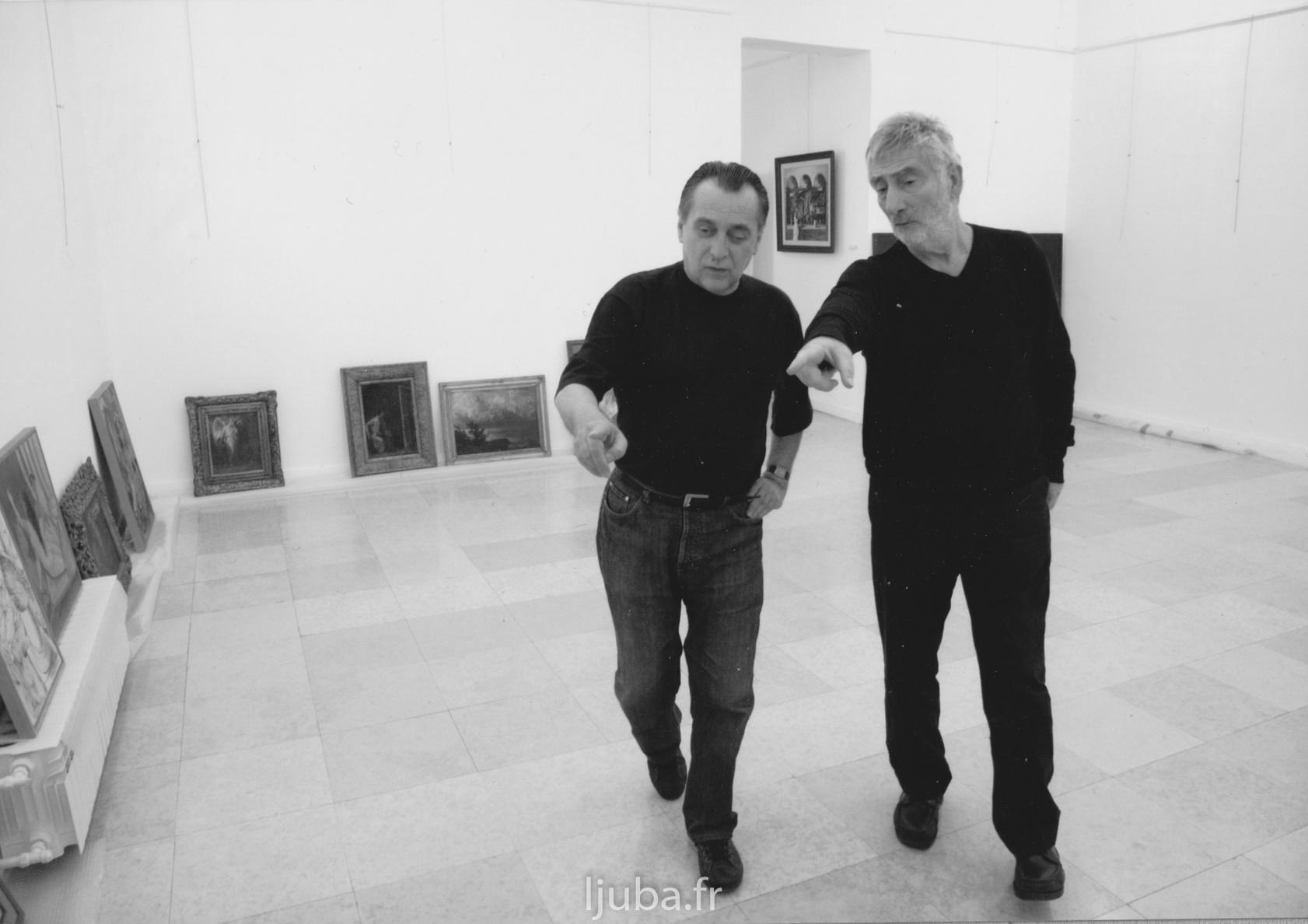 86. 2007., Sa Brankom Kukićem, Valjevo, priprema izložbe o simbolizmu_