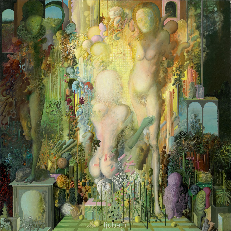 Ljuba Popovic - Une chambre à Florence, L'annonciation, L'hommage à R.K, 1971-70