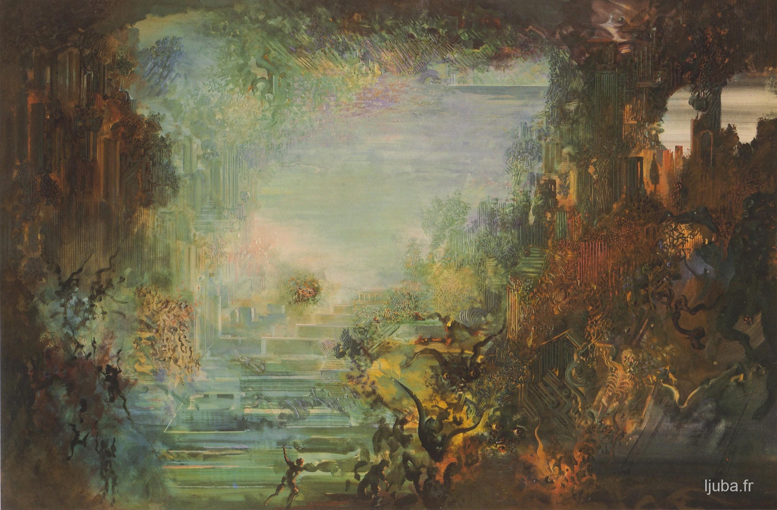 Ljuba Popovic - Le retour d'Ulysse ou Le naufrage d'un paysage idyllique, 1987