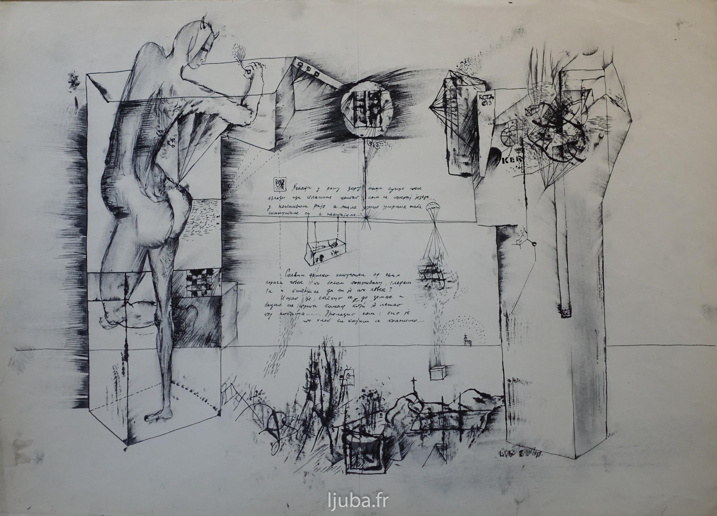 Ljuba Popovic - Dessin - Crtež - Drawing