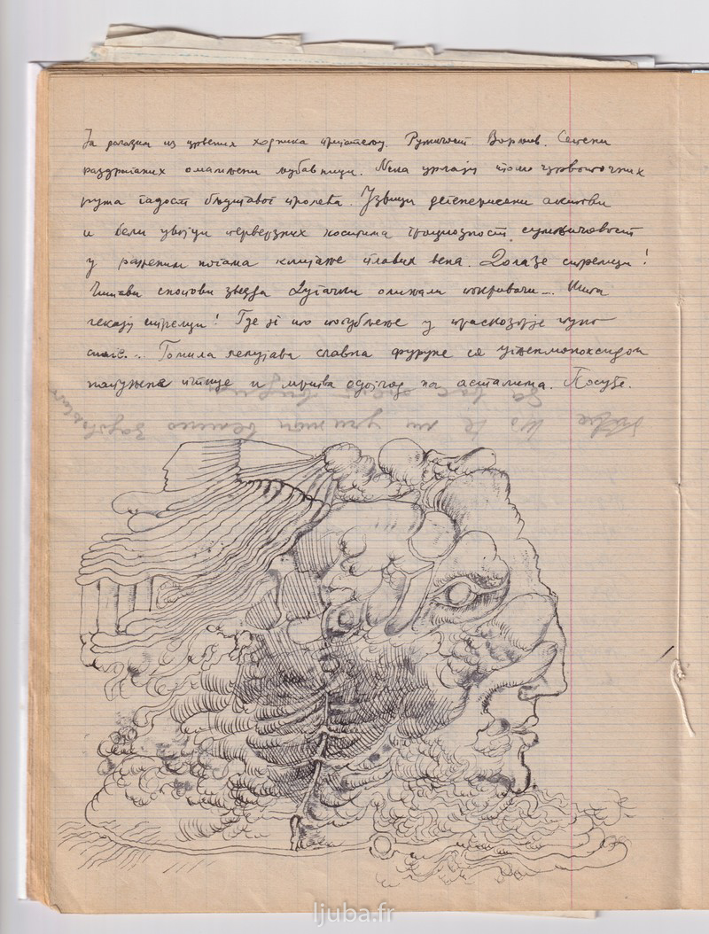 14a 1964., Stranice iz Ljubine sveske sa intimnim zapisima_