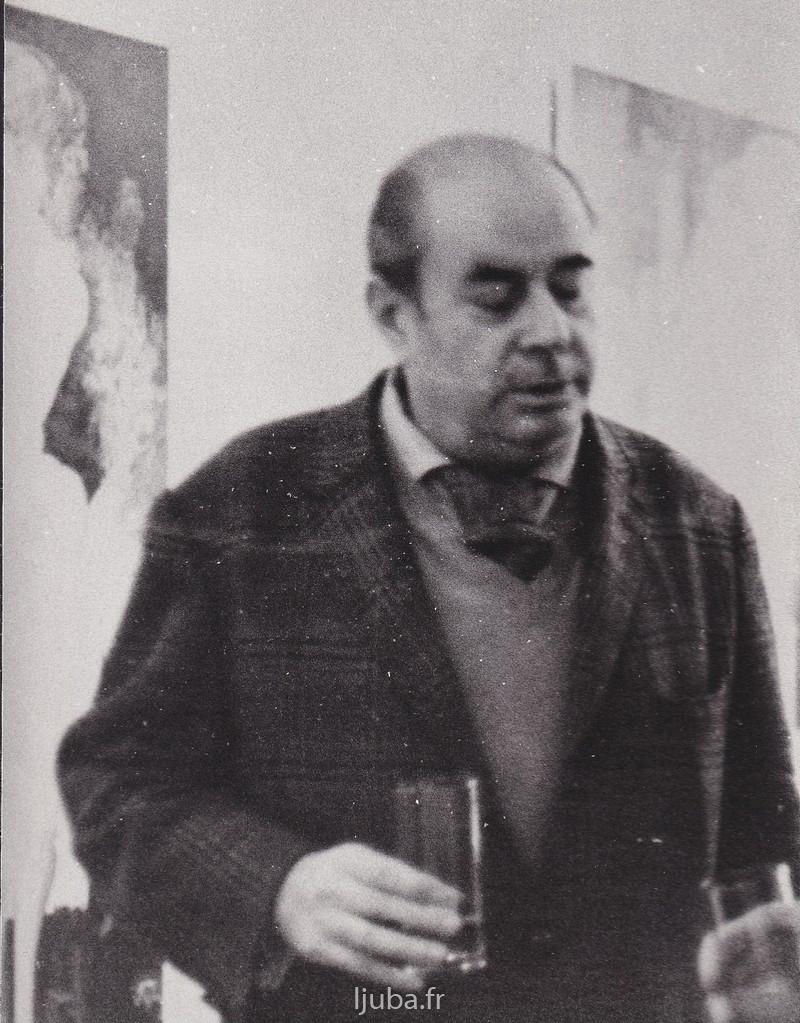 15. 1964., Rene de Solije, istoricar umetnosti i kriticar koji se medu prvima interesovao za Ljubino slikarstvo jpeg