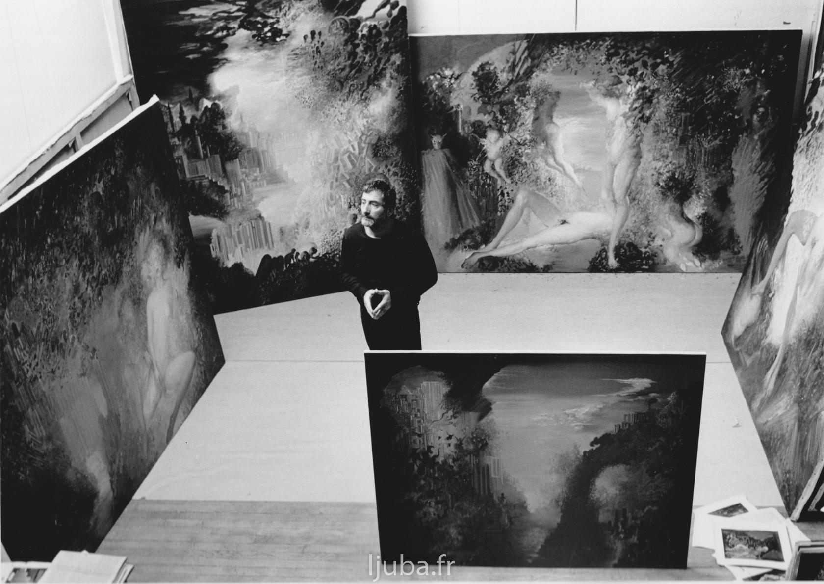 55. 1987., Ljuba u ateljeu Vaj de Gras_