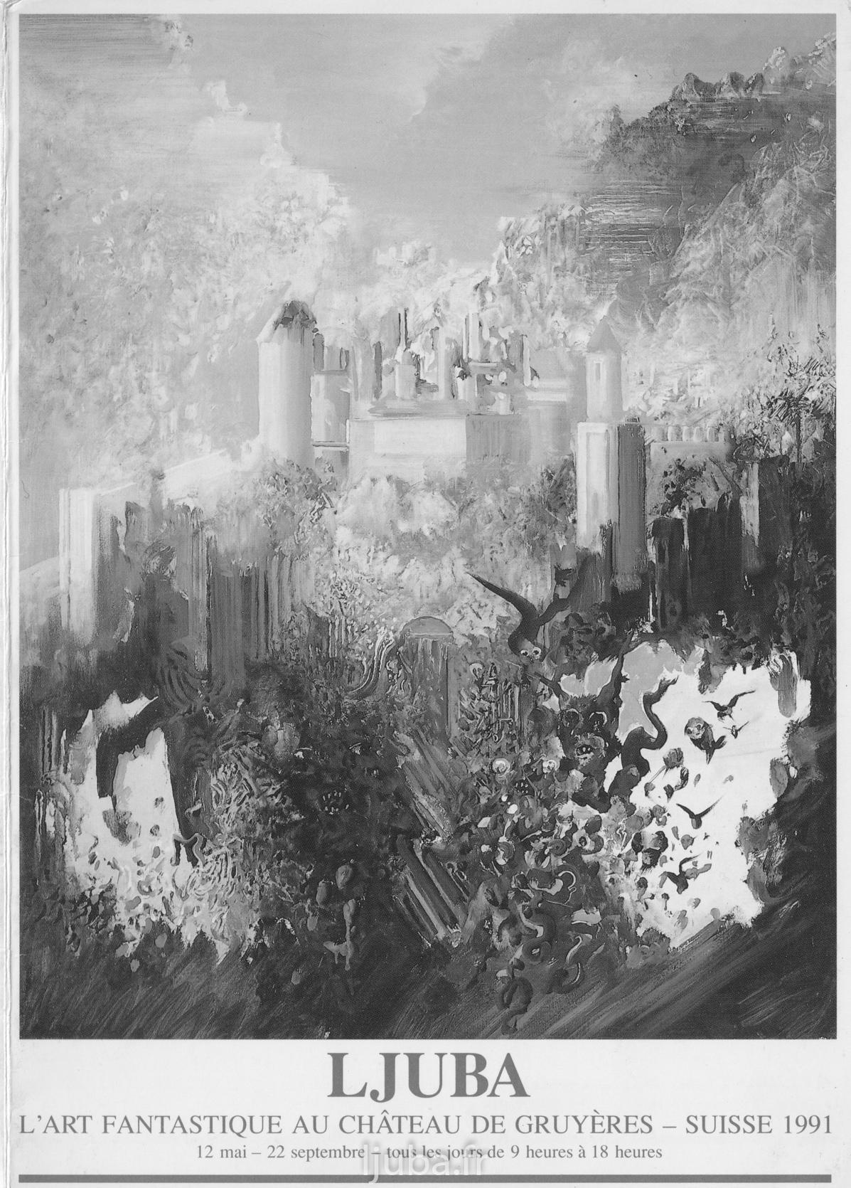 61. 1991., Pozivnica za izložbu u zamku Grijer_