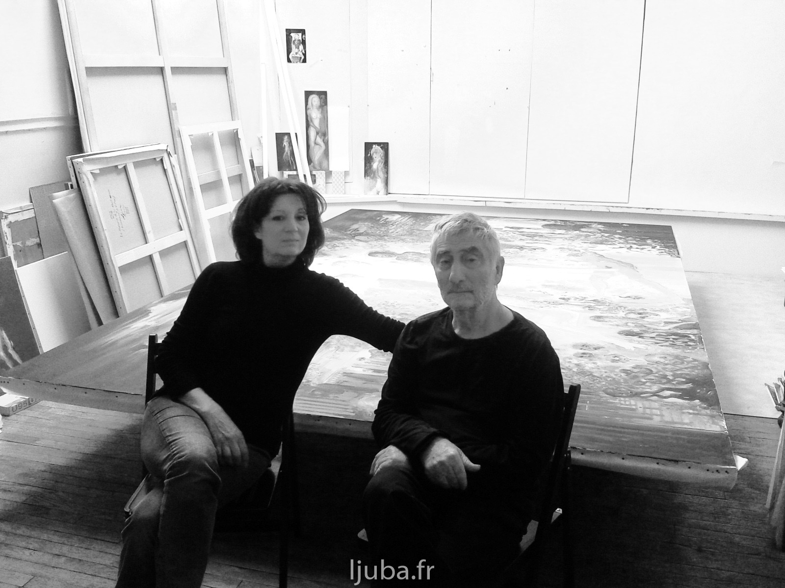 96. 2012., Ljuba i Slavica, verniranje velike slike_